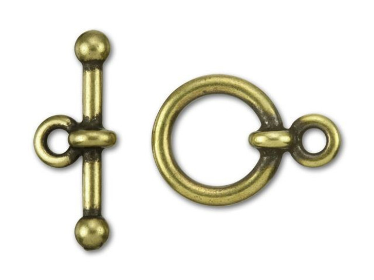 TierraCast 1/2-Inch Oxidized Brass-Plate Anna's Toggle and Clasp 17.5x12.5mm