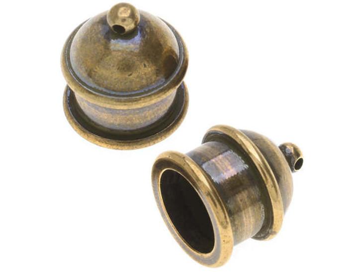 TierraCast 10mm Brass Oxide Pagoda Cord End Cap