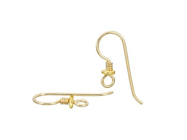 TierraCast Gold-Filled 14K/20 Earwire with Coil and Spacer (Pair)