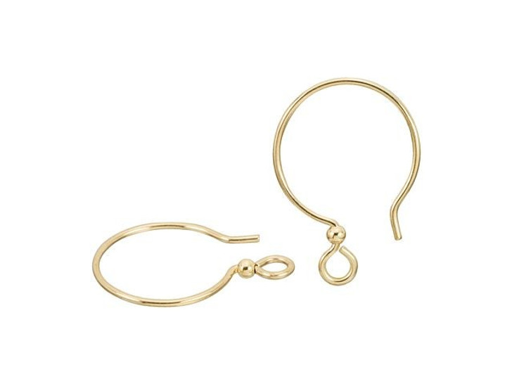 TierraCast Gold-Filled 14K/20 French Earwire with 2mm Bead (Pair)