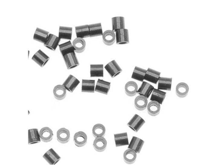 TierraCast 2 x 2mm Black Finish Brass Crimp Tube