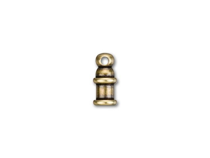 TierraCast 2mm Brass Oxide Pagoda Cord End Cap