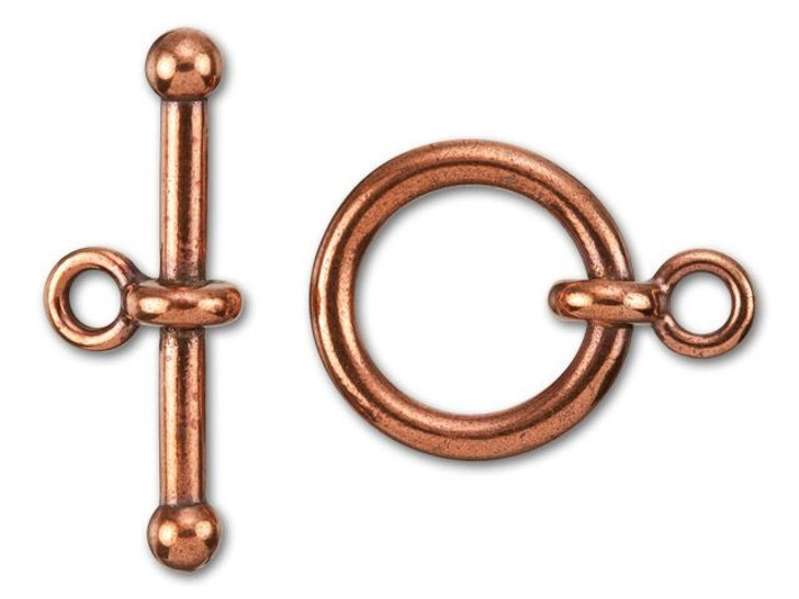 TierraCast 3/4-Inch Antique Copper-Plated Pewter Anna's Toggle and Clasp