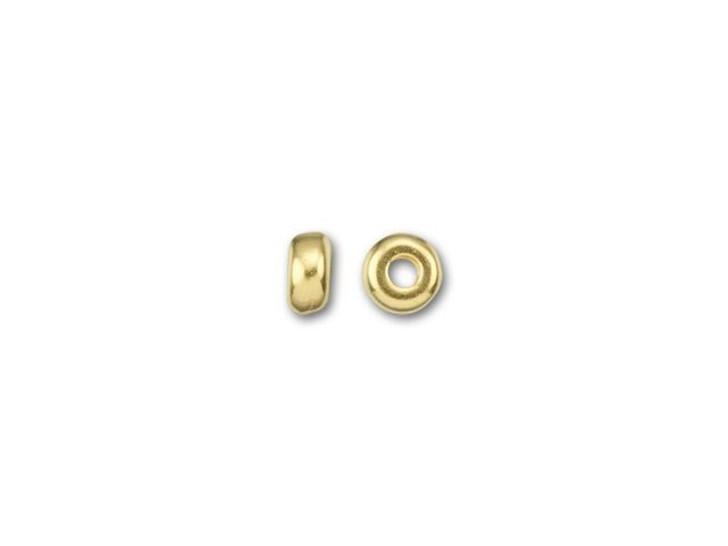 TierraCast 3mm Bright Gold-Plated Pewter Plain Heishi Spacer
