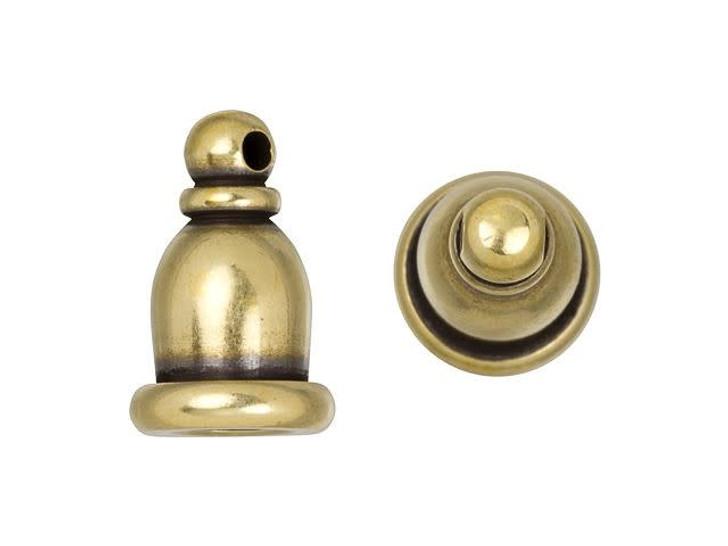 TierraCast 4mm Brass Oxidized Brass Taj Cord End Cap