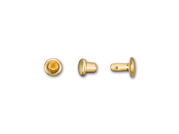 TierraCast 4mm Gold-Plated Brass Rivet Set (Pack of 10)