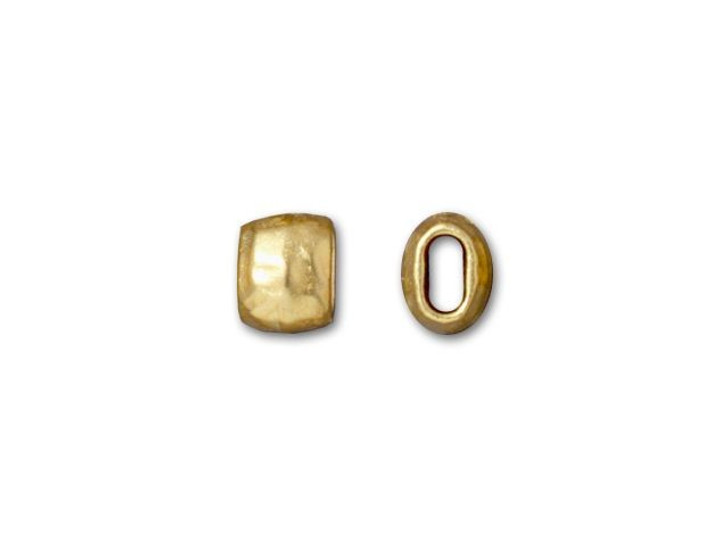 TierraCast 4x2mm (ID) Gold-Plated Pewter Barrel Spacer Bead