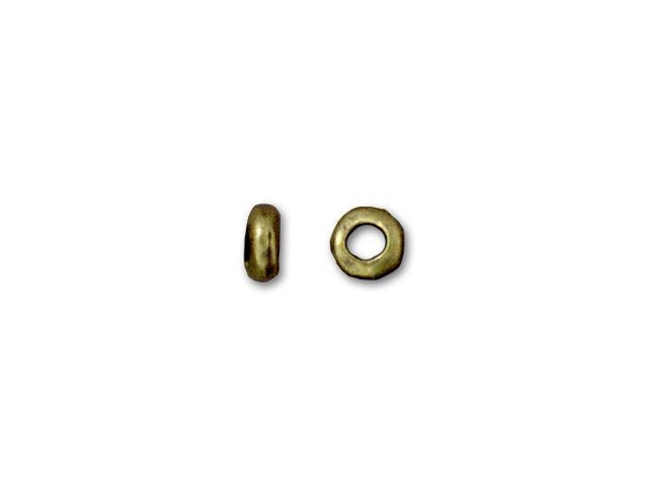 TierraCast 5mm Brass Oxide Finish Pewter Nugget Spacer Bead with 2mm Hole