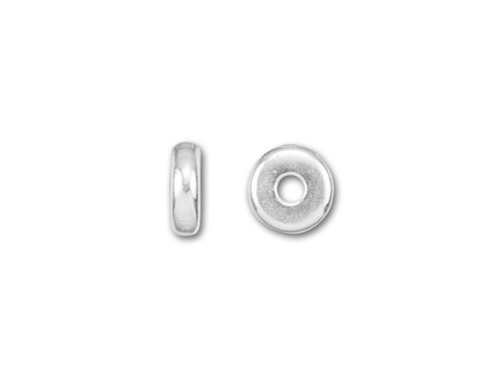 TierraCast 5mm Silver-Plated Pewter Plain Heishi Spacer