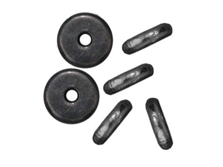 TierraCast 6mm Black Finish Pewter Plain Heishi Spacer