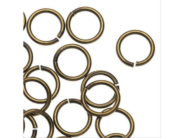 TierraCast 6mm Brass Oxide Open Round Jump Ring