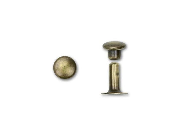 TierraCast 6mm Oxidized Brass-Plate Rivet Set (10pc Pack)