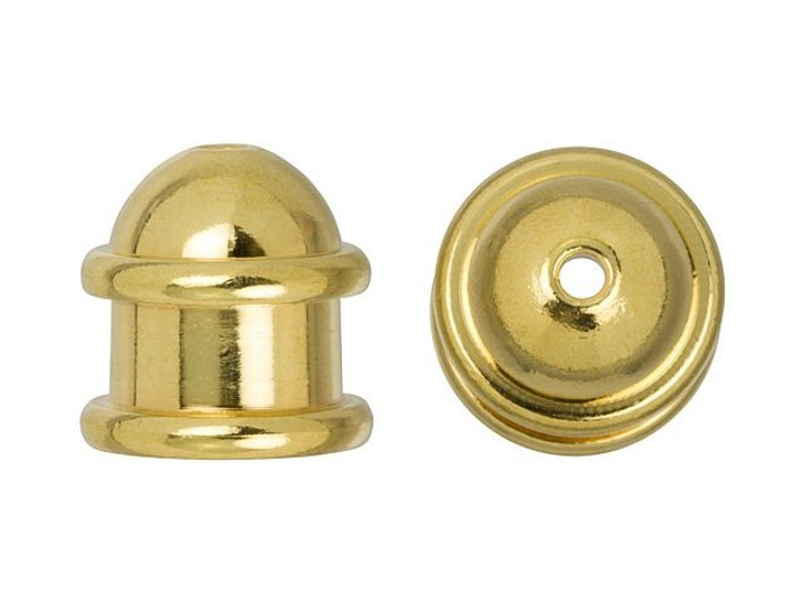 TierraCast 6mm Gold-Plated Brass Capitol Cord End Cap