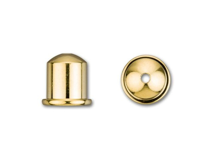 TierraCast 6mm Gold-Plated Brass Cupola Cord End Cap