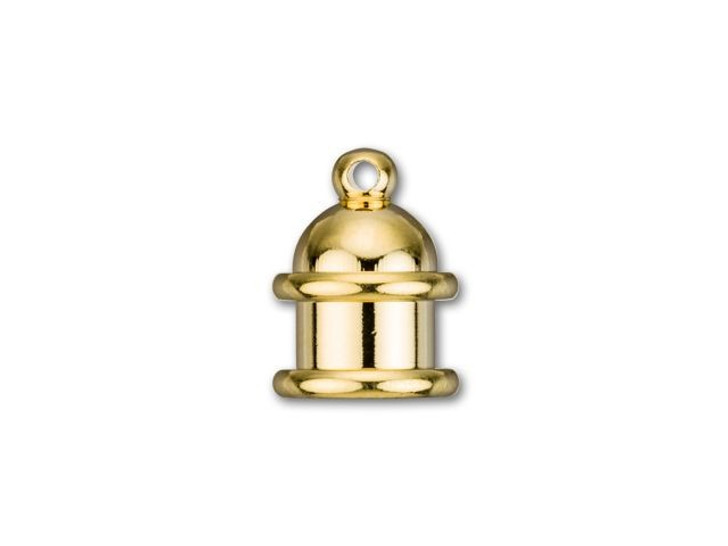 TierraCast 6mm Gold-Plated Brass Pagoda Cord End Cap