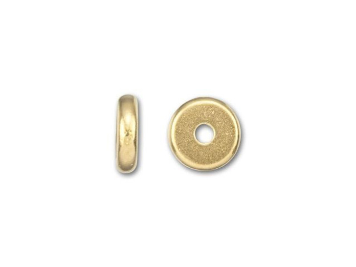 TierraCast 6mm Gold-Plated Pewter Plain Heishi Spacer