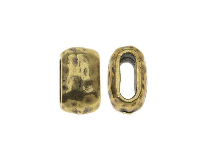 TierraCast 6x2mm Brass Oxide Finish Pewter Barrel Spacer Bead