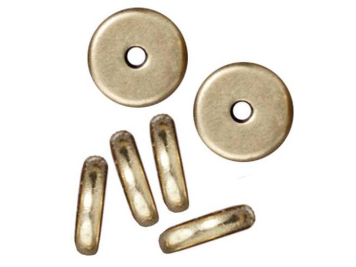 TierraCast 7mm Brass Oxide Pewter Plain Heishi Spacer 2x7mm