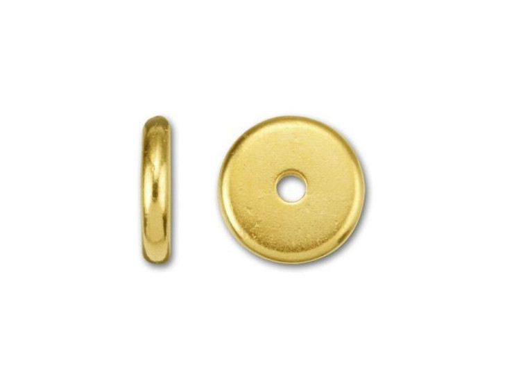 TierraCast 8mm Gold-Plated Pewter Plain Heishi Spacer