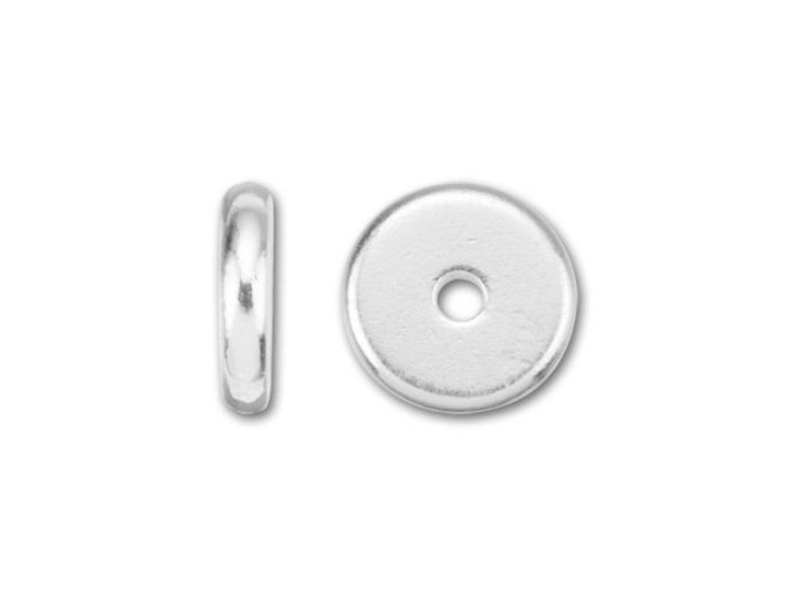 TierraCast 8mm Silver-Plated Pewter Plain Heishi Spacer