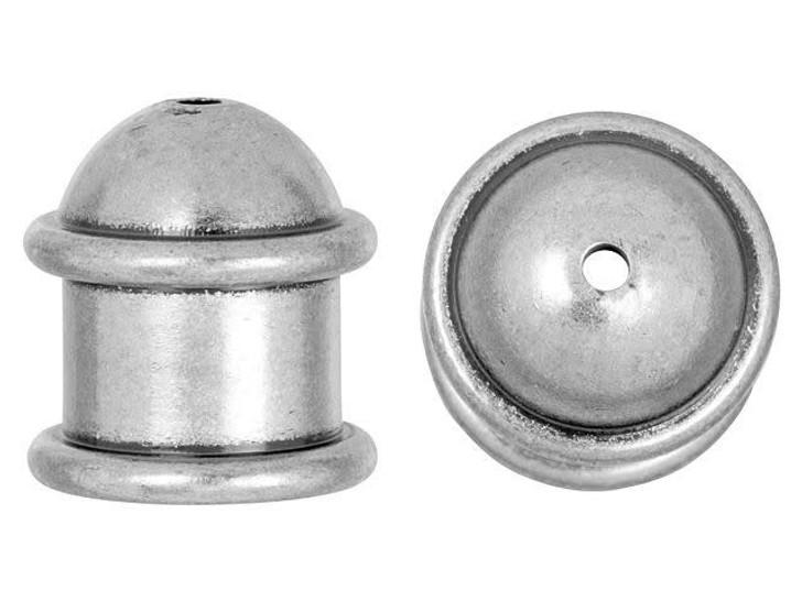 TierraCast 8mm Oxidized Tin Plate Capitol Cord End Cap