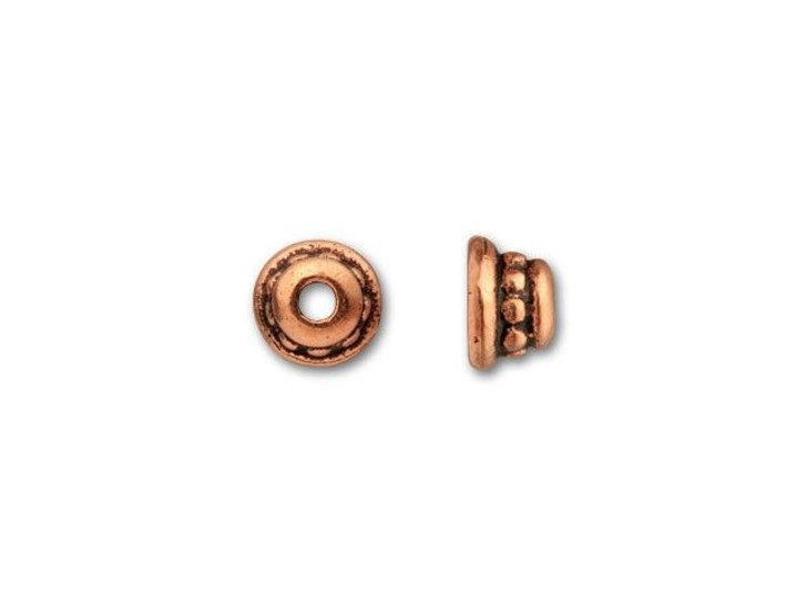 TierraCast Antique Copper 4mm Beaded Bead Cap