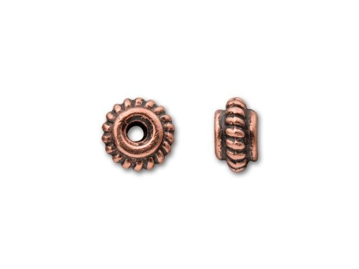 TierraCast Antique Copper 5mm Coiled Heishi Spacer