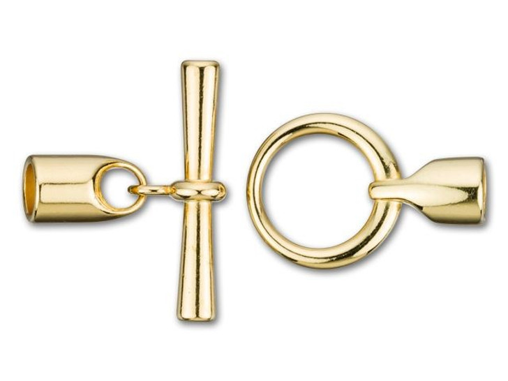 6.2mm ID Gold-Plated Small Round Kumihimo Toggle Clasp
