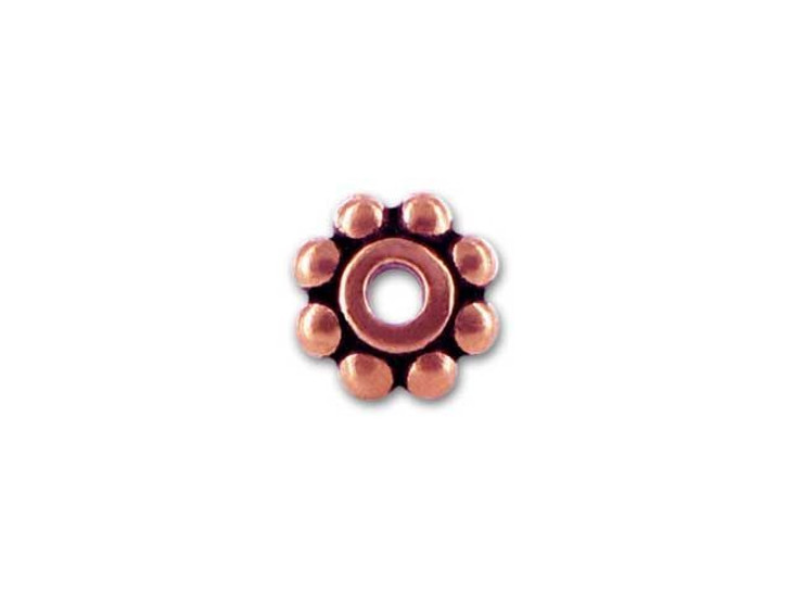 TierraCast Antique Copper 6mm Beaded Heishi Daisy Spacer