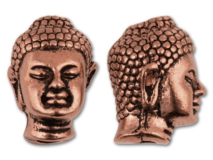 TierraCast Antique Copper Buddha Bead
