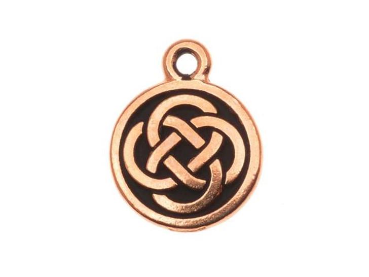 TierraCast Antique Copper Celtic Round Charm