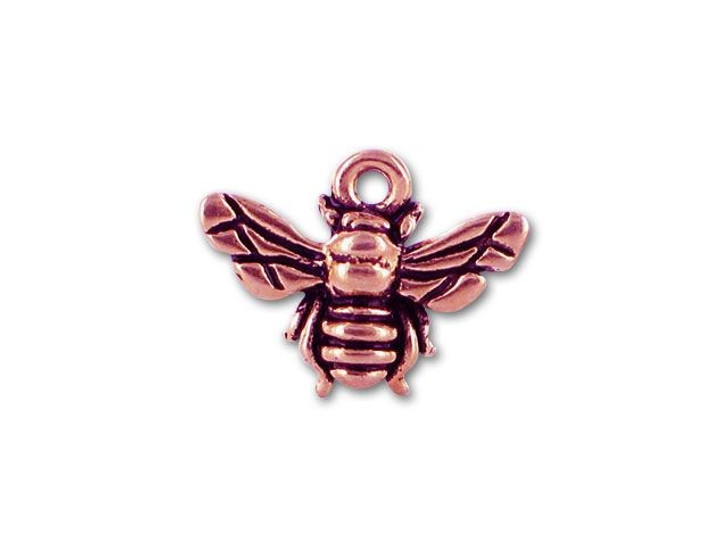 TierraCast Antique Copper Honey Bee Charm