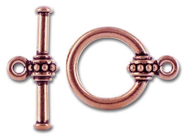 TierraCast Antique Copper Large Beaded Clasp Set