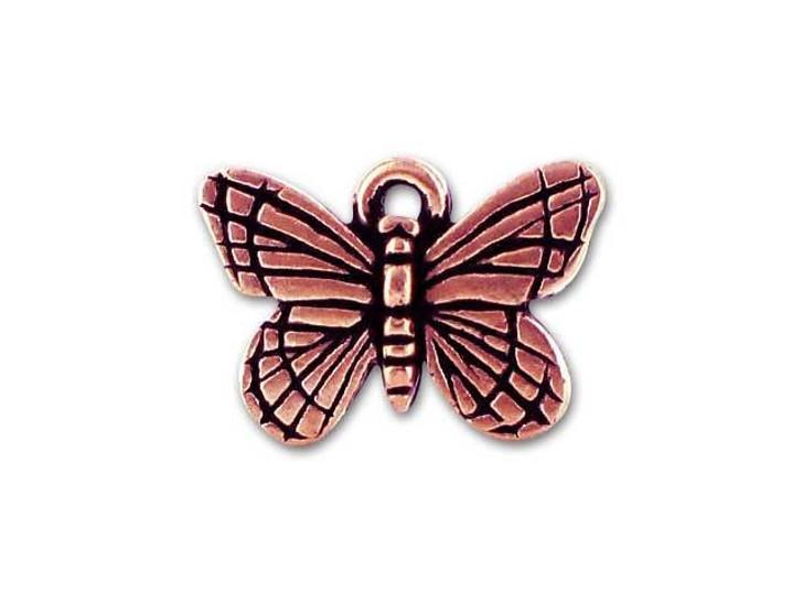TierraCast Antique Copper Monarch Charm