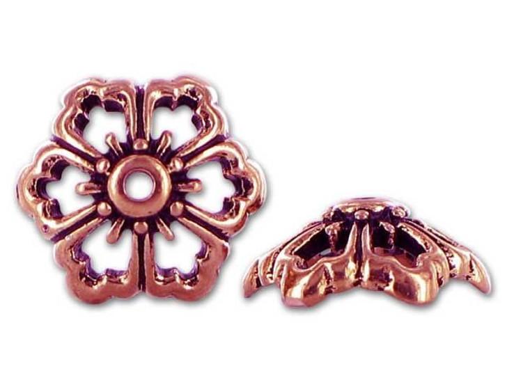 TierraCast Antique Copper Open Poppy Bead Cap