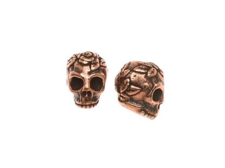 TierraCast Antique Copper Skull Bead