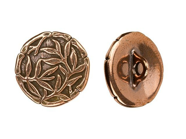 TierraCast Antique Copper-Plated Bamboo Button