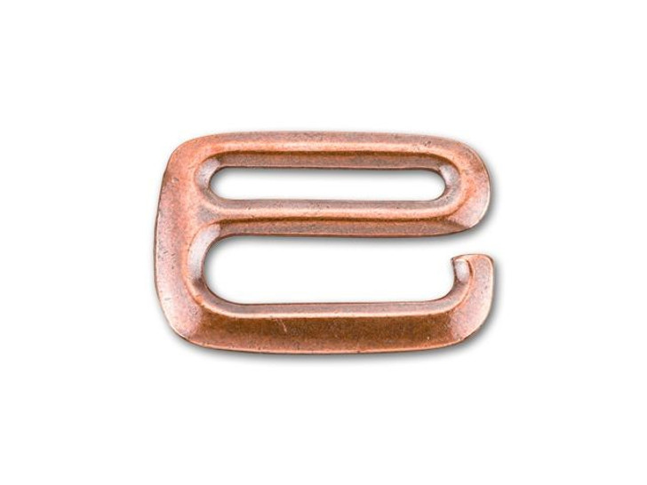 TierraCast Antique Copper-Plated Pewter 3/4-Inch E Hook Clasp