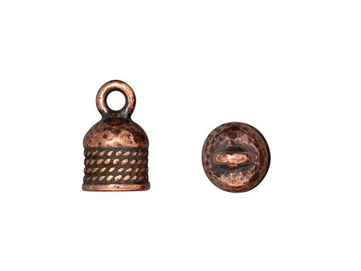 TierraCast Antique Copper-Plated Pewter 5mm Rope Cord End Cap