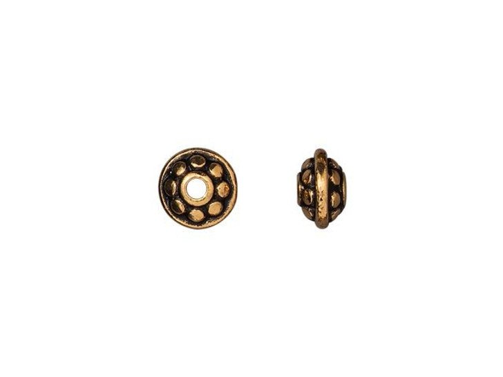 Antique Copper 8mm Twisted Spacer TierraCast Spacer Beads Copper Plated Pewter