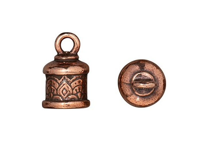 TierraCast Antique Copper-Plated Pewter 6mm Temple Cord End Cap
