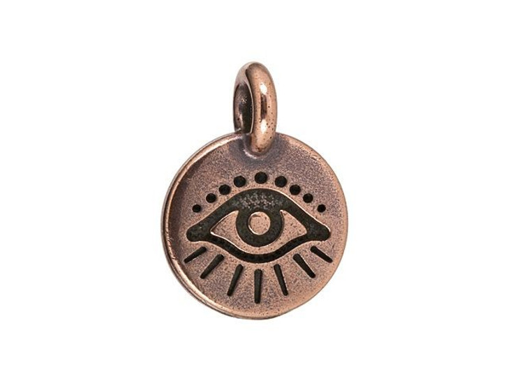 TierraCast Antique Copper-Plated Pewter Evil Eye Charm