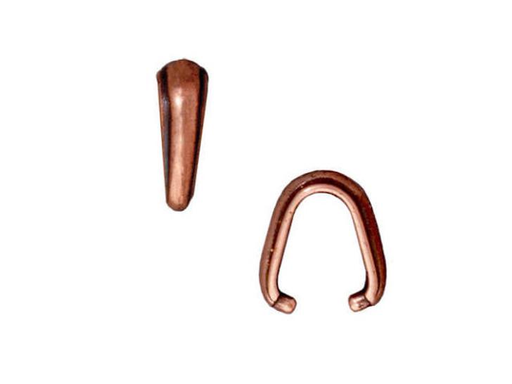 TierraCast Antique Copper-Plated Pewter Nouveau Pinch Bail