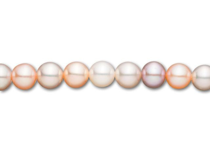 6.5mm Natural Multi-Colored Round Freshwater Pearl Strand