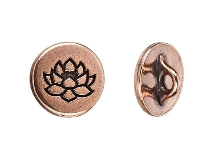 TierraCast Antique Copper-Plated Pewter Small Lotus Button