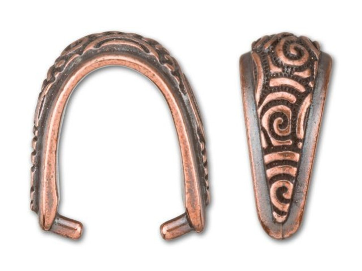 TierraCast Antique Copper-Plated Pewter Spiral Pinch Bail