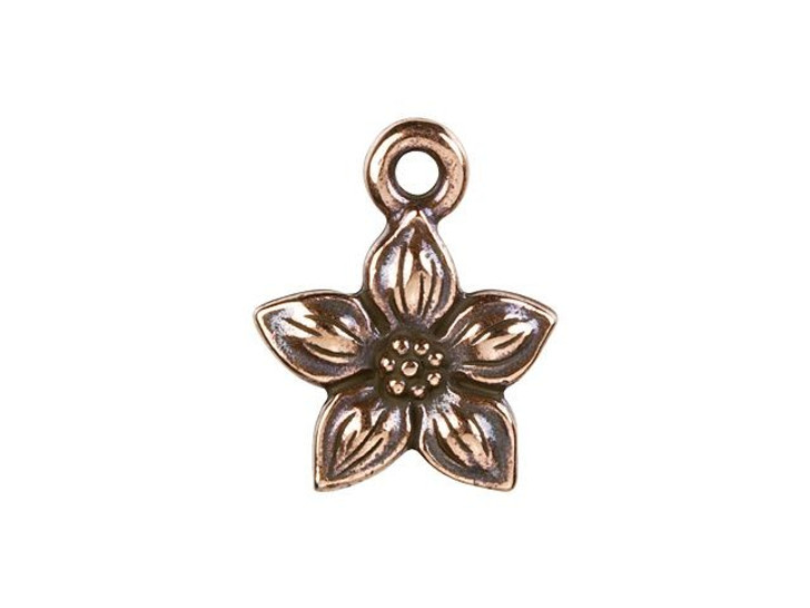 TierraCast Antique Copper-Plated Pewter Star Jasmine Charm