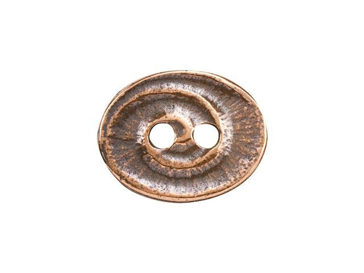 TierraCast Antique Copper-Plated Pewter Swirl Button