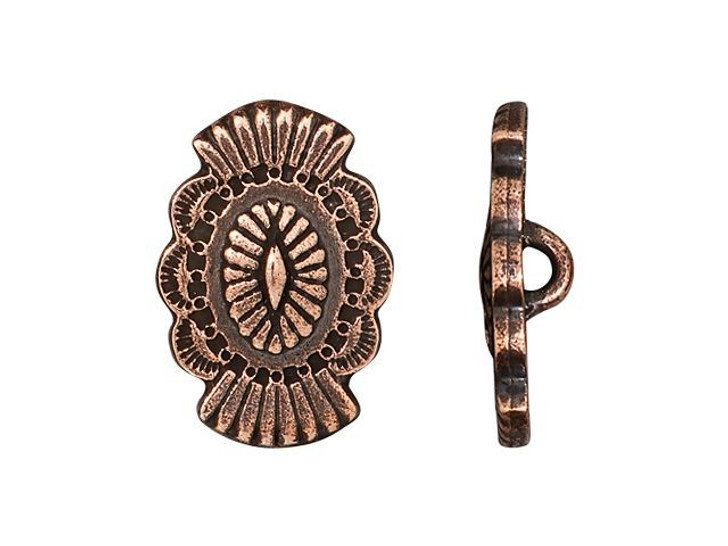 TierraCast Antique Copper-Plated Pewter Western Button
