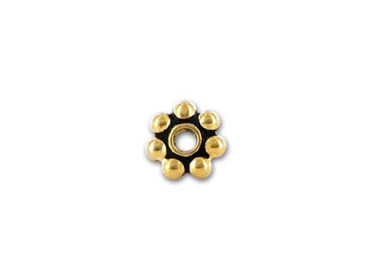 TierraCast Antique Gold 5mm Beaded Heishi Daisy Spacer